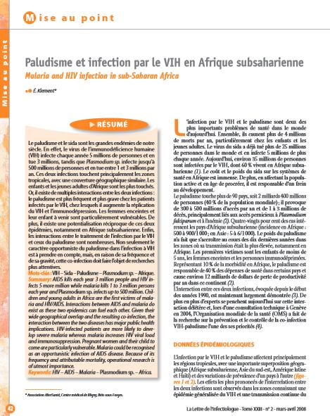 Paludisme et grossesse pdf file